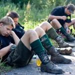 Obóz Wędrowny 77MDH - Odpoczynek na Przełęczy Radoszyckiej