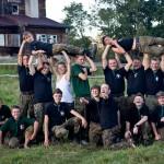 Obóz Wędrowny 77MDH - Strażak przed Chałupą Elektryków