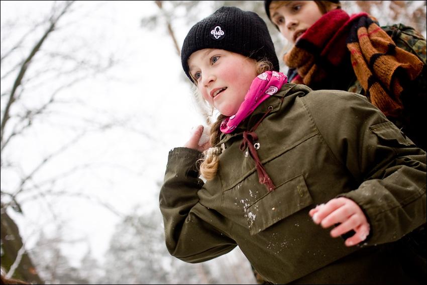 Zimowisko wśród Młodzieszyńskich Lasów